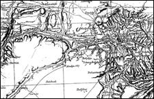 1890 yılında Almanlar tarafından yapılan Ankara ve çevresi haritası