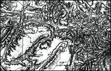 Ankara ve çevresine ait 1915 tarihli Osmanlı haritası / Devlet Arşivleri Genel Müdürlüğü / Ankara